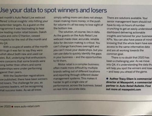 Use your data to spot winners and losers
